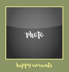 simple photoframe polaroid vector image