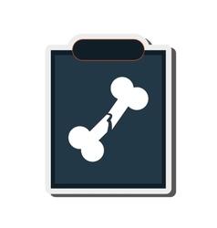 Single x-ray icon vector