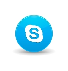 Skype icon simple style vector