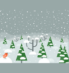 Snow in the woods2 vector