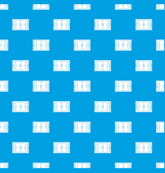 soccer field pattern seamless blue vector image