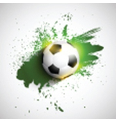 Soccer or football on a grunge background vector