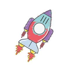 Space rocket galaxy sky travel vector