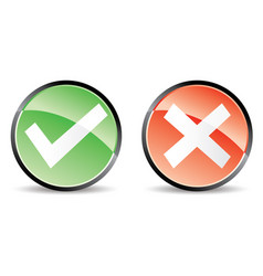 validation cancel button vector image