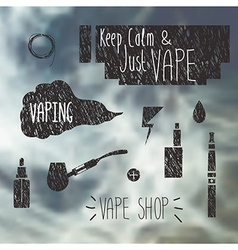 Vape shop icons set vector image