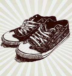 Vintage sneakers vector