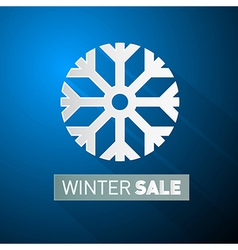 Winter Sale Theme With Snowflake on Blue vector image