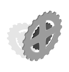 Bike chain star icon isometric 3d style vector image vector image