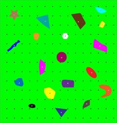 Climbing wall pattern vector image vector image