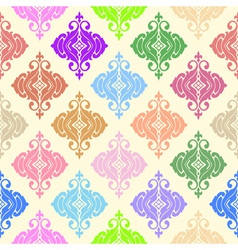 Colorful ornamental seamless background vector image vector image