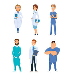 different medical personal male and female vector image