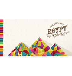 Travel Egypt landmark polygonal monument vector image vector image