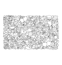 Christmas theme Doodle winter pattern vector image