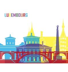 Luxembourg skyline pop vector image vector image