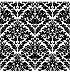 monochrome damask seamless vector image