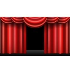 red theatre curtain realistic isolated vector image