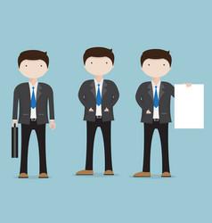 set of businessman character cartoon vector image