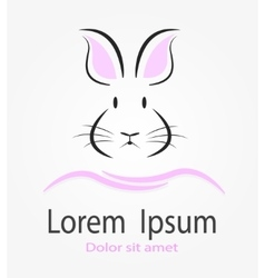 This is Rabbit logotype vector image vector image