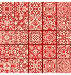 abstract geometric ethnic seamless textures vector image vector image