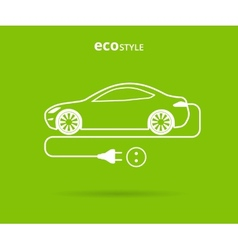 Eco style car vector image
