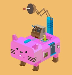 Robot Cat vector image