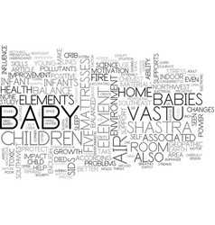 better health and happiness for your baby text vector image vector image