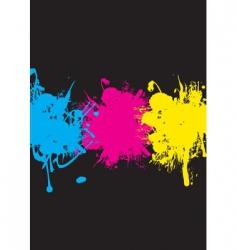 CMYK splash vector image vector image