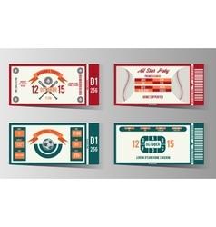 Football soccer and Baseball ticket design vector image vector image
