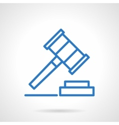 Gavel icon blue simple line style vector image