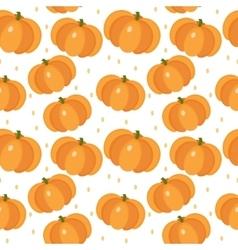 Pumpkin seamless pattern Gourd endless vector image