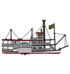 the classic paddle steamer vector image