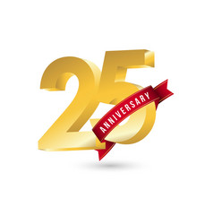 25 year anniversary template design vector image
