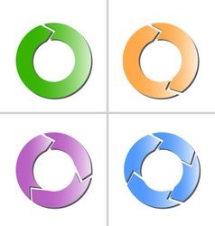 4 color arrow refresh reload rotation loop icon vector