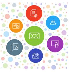 7 invitation icons vector image