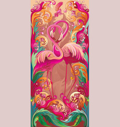 a series panels birds paradise vector image