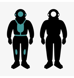 Atmospheric diving suit vector