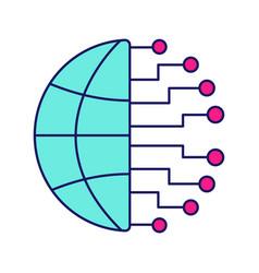 Big data color icon vector