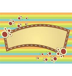 Blank cartoon banner vector image