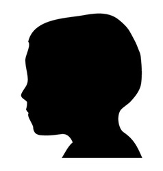 Boy head silhouette vector image