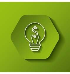 bulb with money sign icon vector image