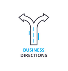 Business directions concept outline icon linear vector