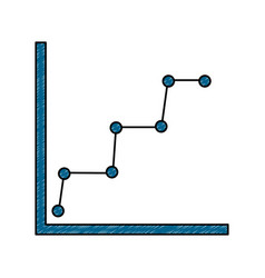 Business graph diagram and statistics dotted line vector