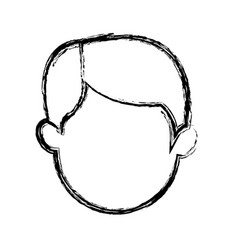Cartoon head man male manger icon vector