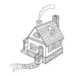 Cartoon image of house vector