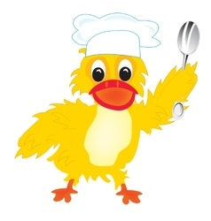 Cartoon of the duck of the cook vector image