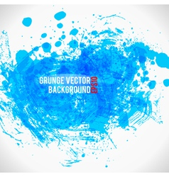Color Paint Splashes Grunge Background Bule vector image