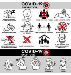 coronavirus covid19-19 outbreak concept vector image