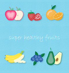 creative set of most popular fruits vector image