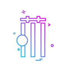 cricket icon design vector image