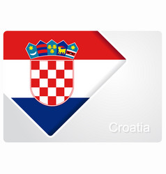 Croatian flag design background vector